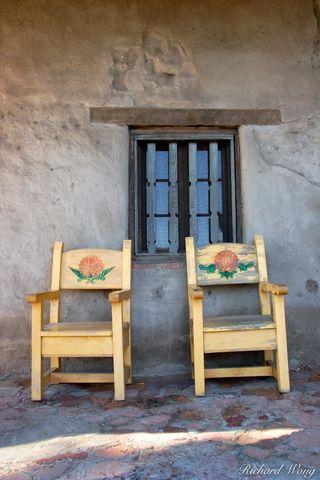 Chairs and Window, Mission San Juan Capistrano, California, photo
