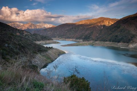 alpenglow, angeles national forest, azusa canyon, clouds, drinking water, freshwater, landscape, los angeles county, morris reservoir, outdoors, outside, peaks, san gabriel mountains, scenery, scenic,
