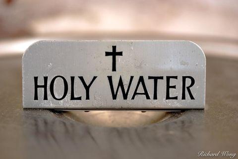 Holy Water, Mission San Fernando Rey de Espana, California, photo