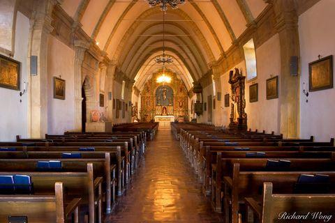 Carmel Mission Chapel Interior, Carmel-by-the-Sea, California, photo