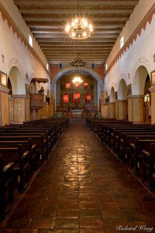 California Missions, Mission San Juan Bautista, altars, catholic religion, church, churches, historic religious sites, holy places, main altar, southwest, southwestern, spanish