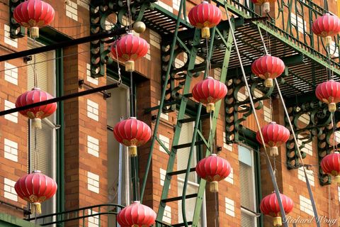 Chinese Lanterns in Chinatown, San Francisco, California, photo