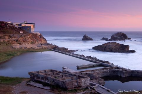 Cliff House, Pacific Ocean, Sutro Baths, Sutro Ruins, coast, coastal, coasts, northern california, oceans, san francisco, scenic, scenics, travel, united states of america, usa, water
