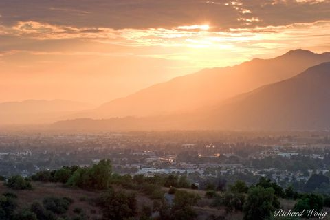 Glendora, Los Angeles County, Pride of the Foothills, San Gabriel Mountains, San Gabriel Valley, hills, landscape, landscapes, scenic, southern california, sunset, sunsets, united states of america, u