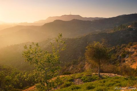 famous landmarks, griffith park, hollywood hills, hollywood sign, landscape, landscapes, los angeles, mount hollywood, scenic view, southern california, sunset, sunsets, travel, united states of ameri