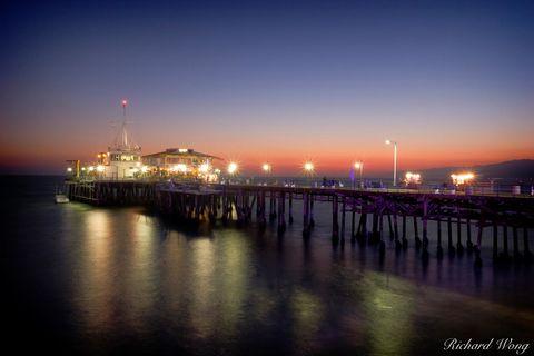 Santa Monica Pier at Dusk, Southern California, photo