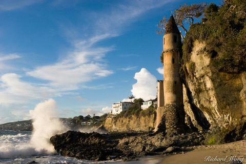 Castle Turret at Victoria Beach, Laguna Beach, California, photo