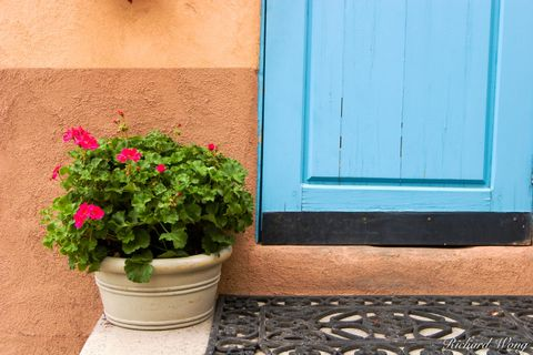 New Mexico, chilis, colorful, colors, doors, entrance, pepper, peppers, plants, red chili, southwest, southwestern, spanish architecture, taos, travel, turquoise door, united states of america, usa