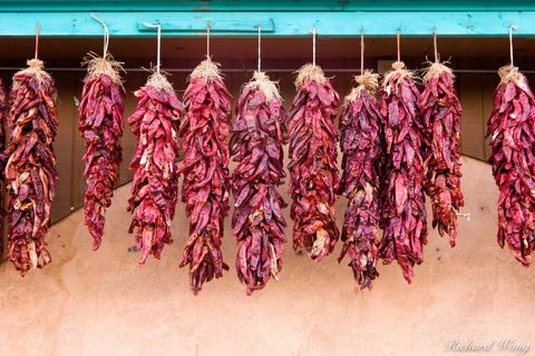 New Mexico, chili, color, colorful, colors, cultural, culture, dehydrated, dried, drying, food, hanging, hot, pepper, peppers, red chilis, southwest, southwestern, spice, spices, spicy, taos, travel,