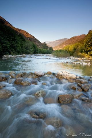 East Fork San Gabriel River with Mount Baldy in Background, Angeles National Forest, California, photo