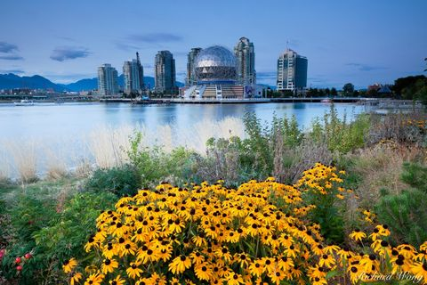 Science World at Dusk, Vancouver, B.C., photo