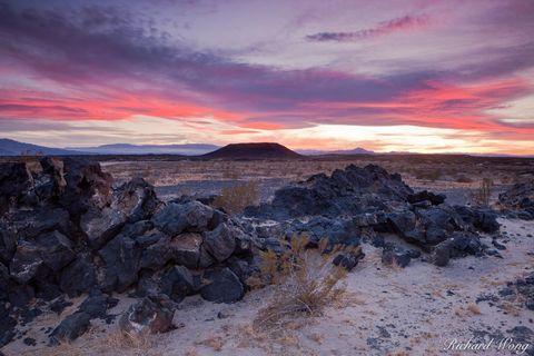 California, Mojave Desert, alpenglow, amboy, amboy crater national natural landmark, arid, blm, isolation, landscapes, lava field, loneliness, mountains, outdoors, rural scene, san bernardino county,