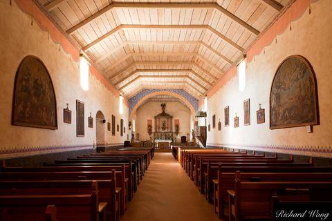 Mission San Antonio de Padua Chapel Interior, Monterey County, California, photo
