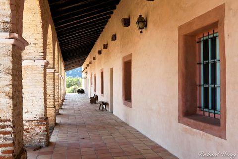 Mission San Antonio de Padua, Hallway, Monterey County, California, photo
