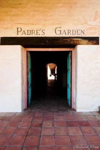 Padre's Garden, Mission San Antonio de Padua, Monterey County, California, photo