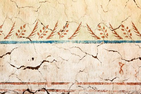 munras mural detail, mission san miguel arcangel, california, photo