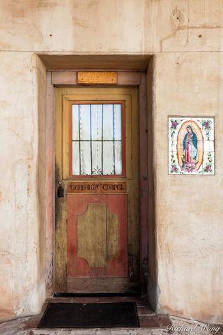 Guadalupe Chapel, door, Mission San Miguel Arcangel, San Miguel, California, photo