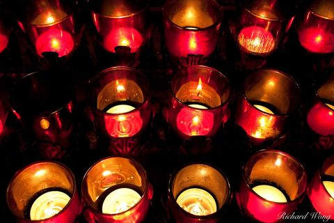 worship candles, mission san juan capistrano, california, photo