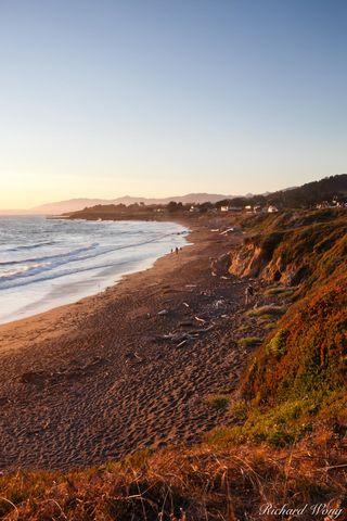 Moonstone Beach Coastline, Cambria, California, photo