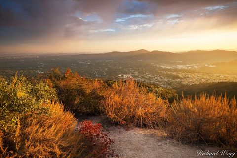 Angeles National Forest, Los Angeles County, San Gabriel Mountains, San Gabriel Valley, alpenglow, altadena, cities, city, clouds, landscape, landscapes, millard canyon, nature, outdoors, outside, pas