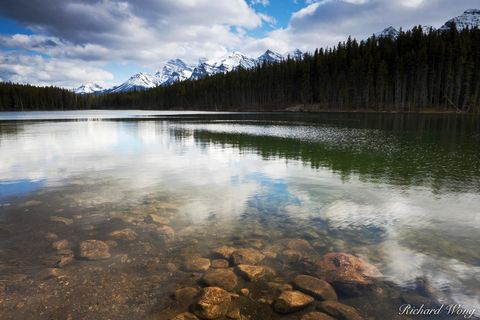 alberta, banff, banff national park, bow range, canada, canadian rockies, color image, herbert lake, horizontal format, icefields parkway, lake, lakes, landscape, landscape photography, nature, north