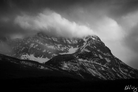 alberta, banff, banff national park, bow valley parkway, canada, canadian rockies, color image, colour image, dark, gloomy, horizontal format, landscape, landscape photography, landscapes, mont storm,