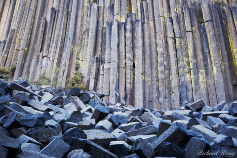 Columnar Basalt at Devils Postpile National Monument, California, photo