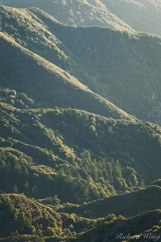 Transpression Ridges in San Gabriel Mountains, Angeles National Forest, California, photo