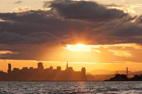 Stormy Sunset Over San Francisco, California, photo
