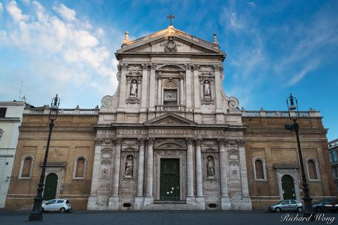 First Light on Church of Saint Susanna at the Baths of Diocletian, Roma, Italy, photo