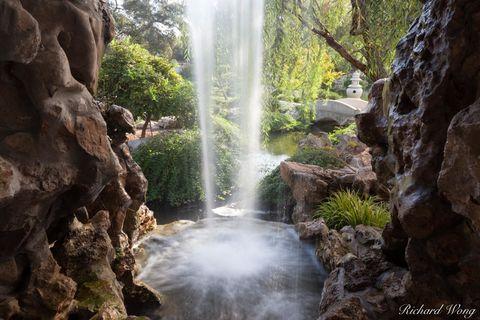 Chinese Garden Waterfall, The Huntington Botanical Gardens, San Marino, California, photo