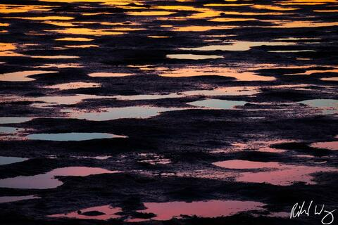 abstract, alameda, beaches, dusk, landscape, low tide, mud, nature, northern california, patterns, reflections, robert crown memorial state beach, san francisco east bay, sunset, tidal, united states