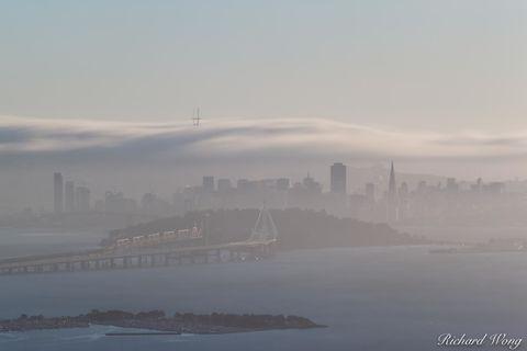 Long Exposure of Fog Rolling Over San Francisco, California, photo