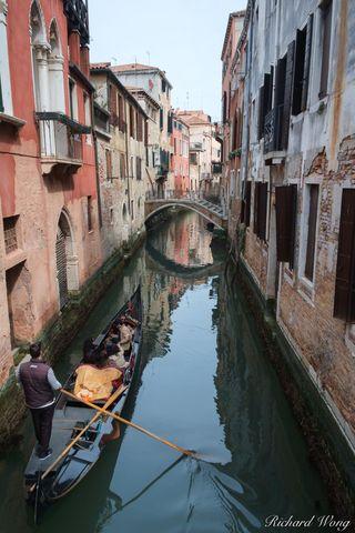 Gondola in Small Canal, Venice, Italy, photo
