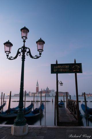 Servizio Gondole in San Marco, Venice, Italy, photo