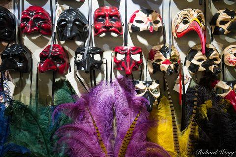 Venetian Masks, Venice, Italy, photo