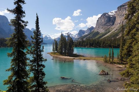 ab, alberta, canada, canadian rockies, freshwater, glaciated, jasper national park, lakes, landscape, maligne lake, mountains, nature, north america, outdoors, outside, overlook, reflection, scenery,