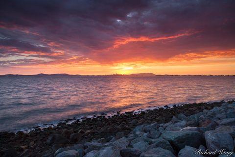 Shoreline Park, alameda, alpenglow, bay area, bay farm island, dusk, evening, harbor bay parkway, night, northern california, outdoors, outside, san francisco east bay, scenery, seascape, sunset, unit