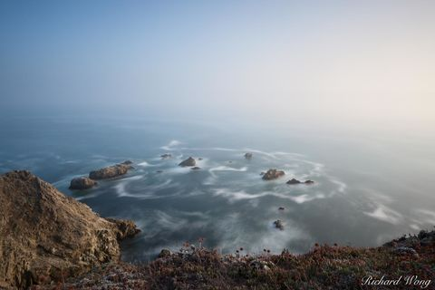 Pacific Ocean, atmospheric conditions, bodega bay, bodega head, cliffs, cliffside, coastal, coastline, fog, foggy, landscape, long exposure, mysterious, nature, northern california, outdoors, outside,