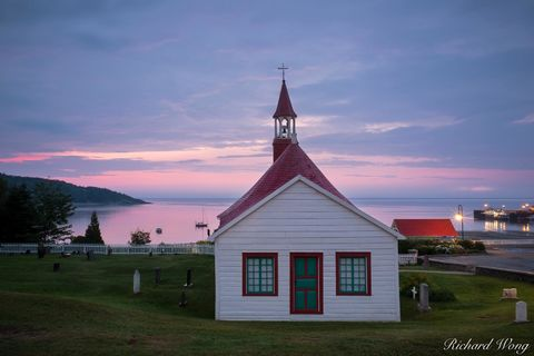building, canada, cemetery, chapel, chapelle de tadoussac, cote-nord, dawn, exterior, graveyard, historic, landmark, morning, north america, oldest wooden church, outdoors, outside, province, quebec,