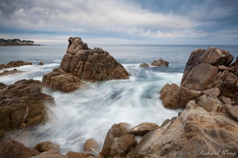 Sunrise Seascape at Lovers Point Park, Pacific Grove, California, photo