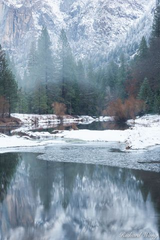 California, autumn, cold, december, fall, fog, foggy, forest, frost, icy, landscape, mariposa county, merced river, nature, outdoors, outside, reflections, scenery, scenic, sierra nevada mountains, sn