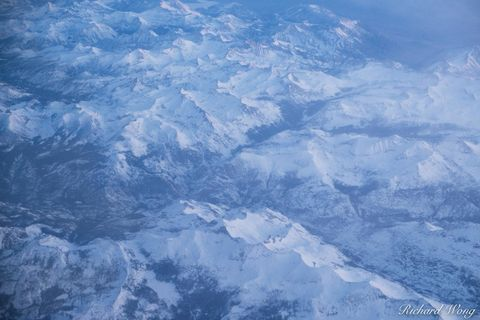 Aerial Photo of Sierra Nevada Mountains in Winter, California, photo
