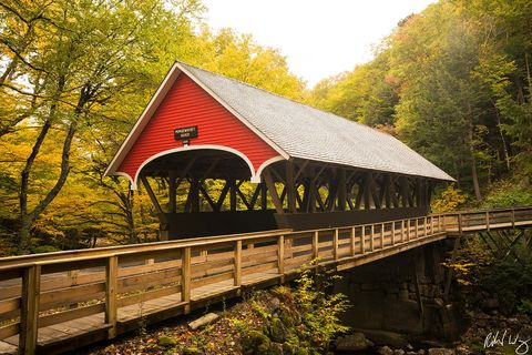 Flume Covered Bridge, Franconia Notch State Park, New Hampshire, Photo