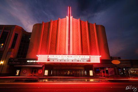 Historic Alameda Theatre at Night, Alameda, California, photo