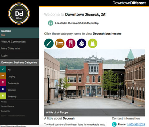 Downtown Decorah Tourism