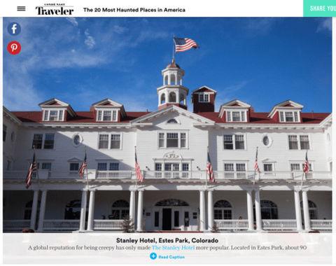 CN Traveler - Stanley Hotel