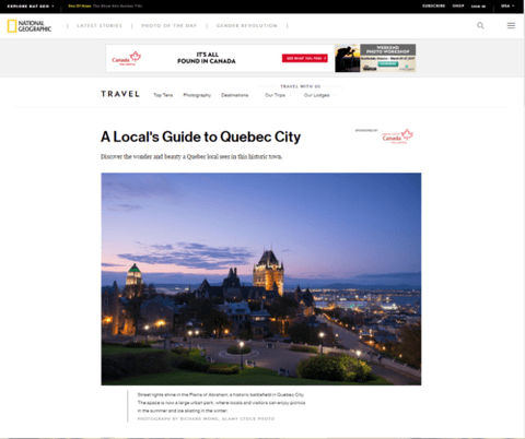 National Geographic - Quebec City