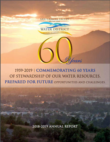 San Gabriel Valley Municipal Water District Annual Report Cover