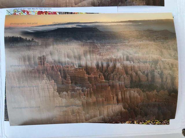 """Bryce Canyon's Inspiration Point"" - Fuji DPII Adobe RGB 1998 Test Print"